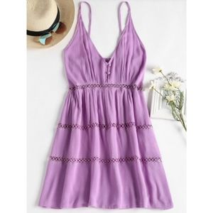 Zaful / Purple A-line Summer Dress